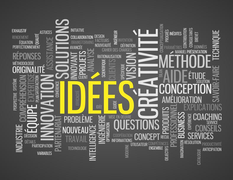 """Nuage de Tags """"IDEES"""" (idées créativité innovation solutions)"""